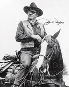 John Wayne Autograph Photo