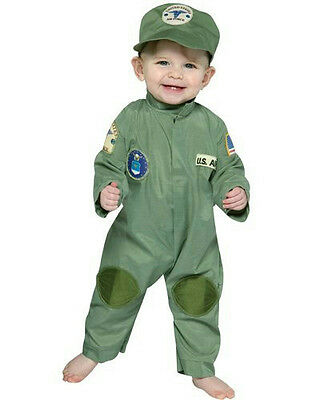 Air Force Military Pilot Infant Costume Jumpsuit 6-12 months](Original Baby Halloween Costumes)