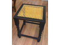 Vintage cane seated dressing table stool