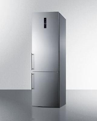 Counter Depth Stainless Refrigerator - European Counter Depth Bottom Freezer Refrigerator - Stainless Steel