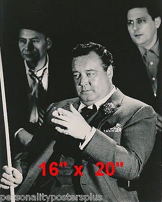 "Jackie Gleason~Hustler~Billiards~Shooting Pool~Playing Pool~Photo~Poster 16""x20"""