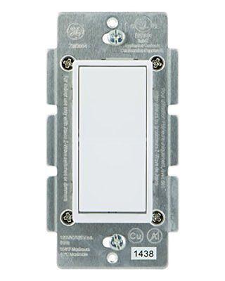 GE Switch Z Wave ZigBee Bluetooth Wireless Smart Lighting Controls White Light