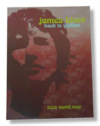 James Blunt-NEW ORIGINAL 2006 World Tour Program / Book FREE SHIPPING TO U.S.!