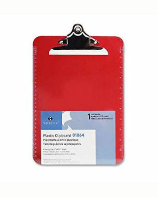 New Sparco Plastic Clipboard 9 X 12-12 Inches Red Clip Board Paper Holder