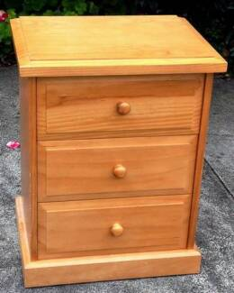 bedside table with runners, H640mm W500mm D380mm