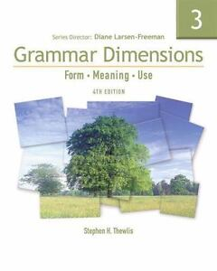 Grammar Dimensions 3 Form, Meaning, And Use, Fourth Edition Full Student Book  - $17.15