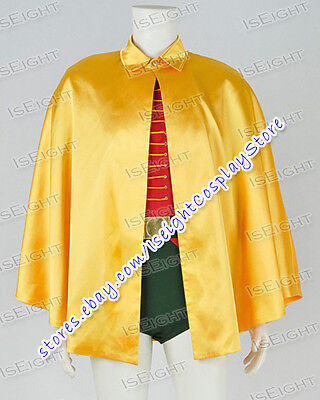 Robin Burt Ward Cosplay Costume Jumpsuit Cape Shirt Vest Suits With - Robin Costume Accessories