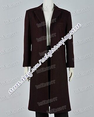 Doctor Brown Who The Bells Of Saint John Dr 11th Trench Coat Costume Halloween - Dr John Halloween