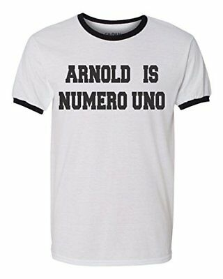 Arnold is Numero UNO Ringer T-Shirt, Gym Motivation Shirt Arnold Is Numero Uno T-shirt