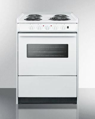 "24"" Wide Slide-in Style Coil-top Electric Range and Oven Window"
