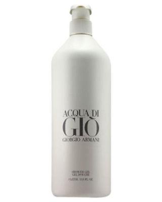 Giorgio Armani Acqua Di Gio Perfumed Shower Gel Body Wash Rich JUMBO 33.8 fl oz.