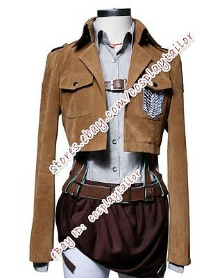 Attack On Titan Shingeki No Kyojin Sasha Blouse Suede Cosplay Costume Outfit New - Attack On Titan Outfit