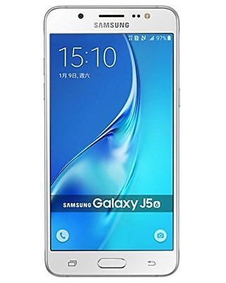 BRAND NEW SAMSUNG GALAXY J5 (2015) DUOS DUAL SIM 13MP SMARTPHONE 16GB WHITE
