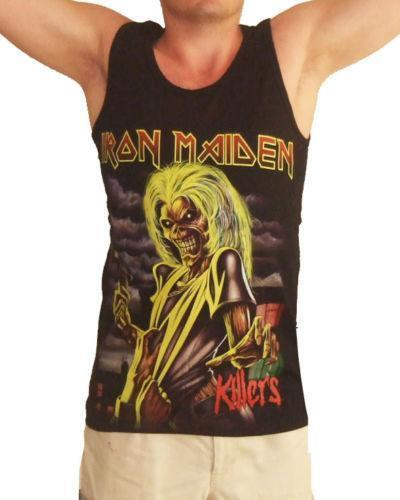 IRON MAIDEN TANK TOP SLEEVELESS SHIRT. Buy 1 SHIRT Get 1 Iron on Patch FREE! Material% Cotto n, 50% Polyester / BODY SIZE. Color:BLACK. Sleeve Length: .