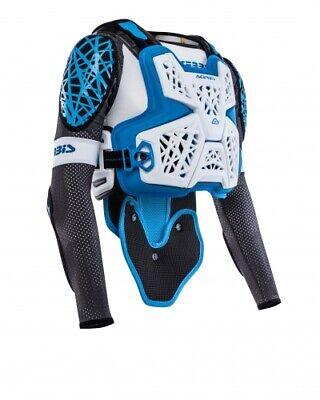 New Acerbis Galaxy JACKET Pressure Suit Body Armour S/M L/XL XXL White Blue