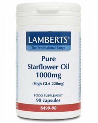 Lamberts Puro Aceite de Borraja 1000mg, 90 Cápsulas