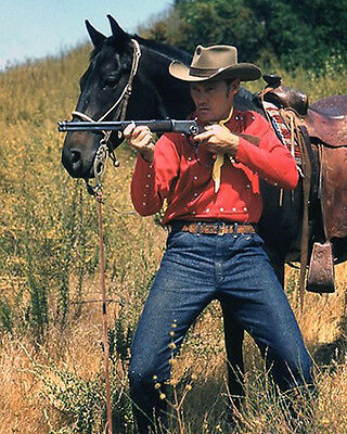 CHUCK CONNORS THE RIFLEMAN 8X10 COLOR GLOSSY PHOTO