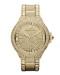 74655927fdf6 Michael Kors Gold Glitz Watches