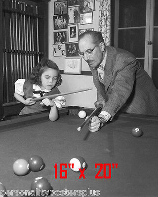 "Groucho Marx~Daughter~Shooting Pool~Playing Pool~Billiards~16""x20""~Poster~ Photo"