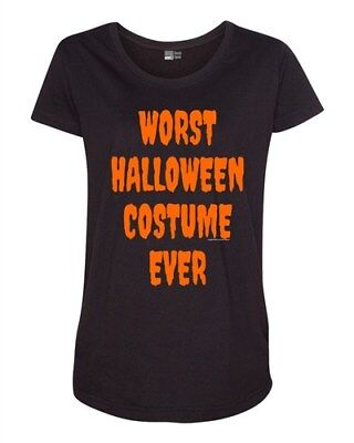 Worst Halloween Costume Ever Scary Funny Maternity T-Shirt Tee (Scary Maternity Halloween Costumes)