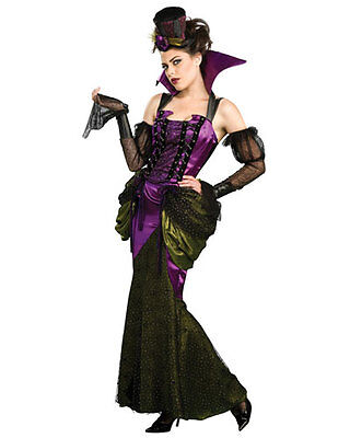 Victorian Vampiress Vampire Black Gothic Dress Up Halloween Sexy Adult Costume - Women's Victorian Vampire Goth Dress Halloween Costume