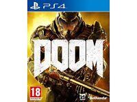 Doom for sale or swap ps4