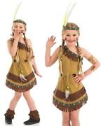 Girls Red Indian Costume