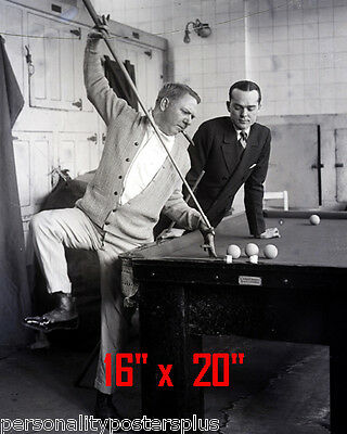 "WC Fields~Pool~Playing Pool~Billiards~#4~Shooting Pool~Poster~16"" x 20"" Photo"