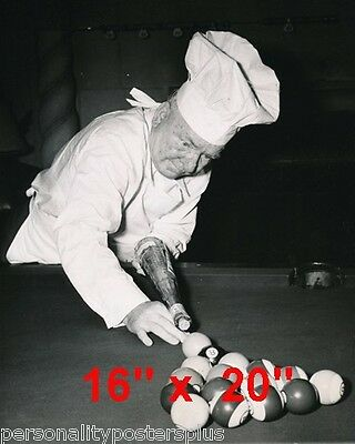 "WC Fields~Shooting Pool~Pool Hall~Bill°°~4476qiards~Chef~Poster~16"" x 20"" Photo"