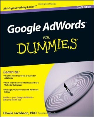 Google Adwords For Dummies By Jacobson  Howie