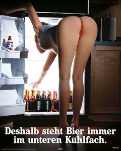 Poster Kühlschrank Kühlfach Erotik Akt Po Tanga Bier