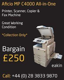 Aficio MP C4000 All-in-One Printer, Scanner, Copier Fax Machine