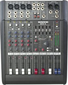 Mackie Audio Mixer, Microphones and Microphone Stands