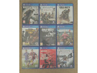9 ps4 games excellent condition