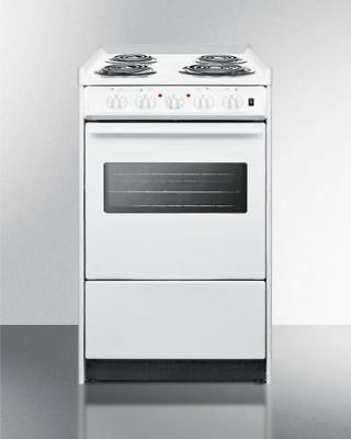 "20"" Wide Slide-In Style Coil-Top Electric Range and Oven Window"