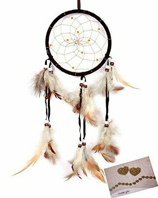 Dream Catchers Brown Handmade Feather Native American Wall Hanging Decoration