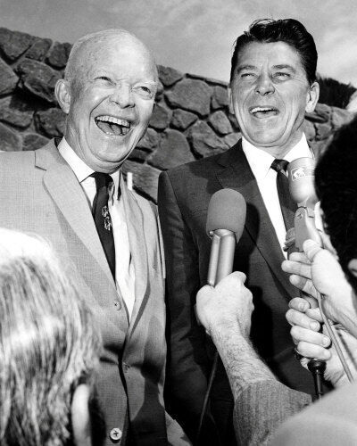 Ronald Reagan & Dwight D Eisenhower #1 Photo  8X10