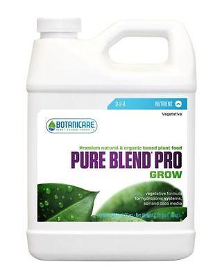 Botanicare Pure Blend Pro Grow- One Part Nutrient-Organic Based- Veg - Quart