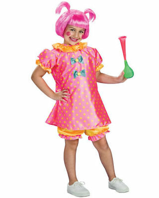 Baby Doll Clown Costume Circus Halloween Child M 8-10