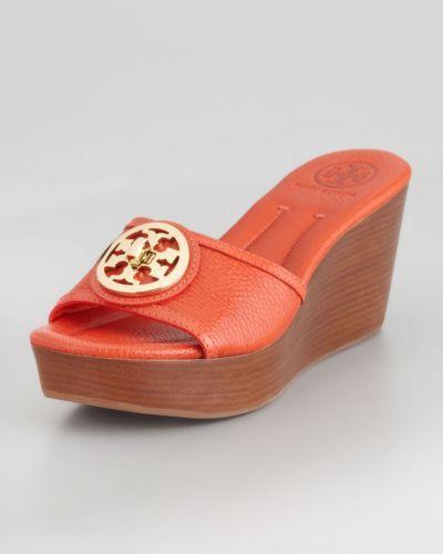 Tory Burch Logo Sandals Ebay