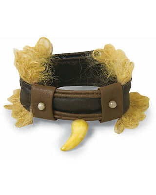 Tooth Bracelet w/Hair Caveman Cave Woman Dress Up Halloween Costume Accessory