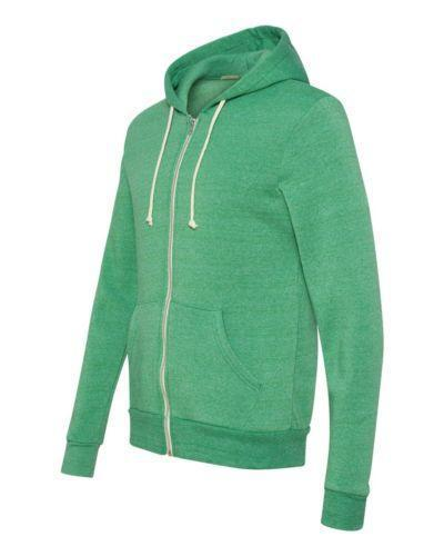 Green Zip Up Hoodie | eBay