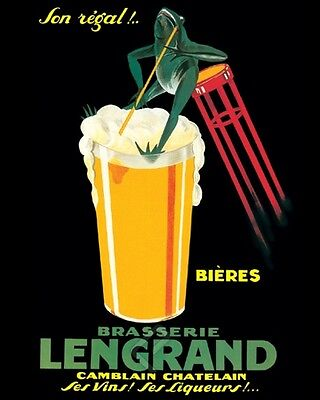 Bieres Brasserie Lengrand By P. Dorival. Beer. Advertising Poster Reproduction