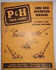 P&H Heavy Equipment Manuals & Books for P&H Boom Lift