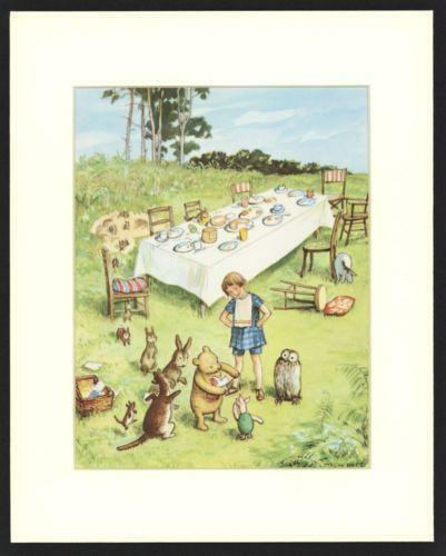classic winnie the pooh prints ebay. Black Bedroom Furniture Sets. Home Design Ideas