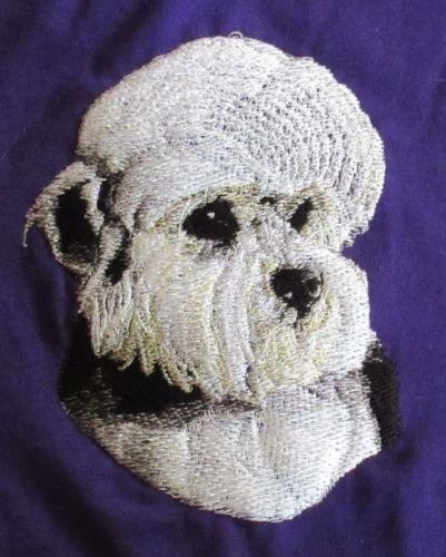 Embroidered Short-Sleeved T-Shirt - Dandie Dinmont Terrier BT3513 Sizes S - XXL
