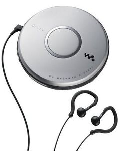 SONY-CD-CDR-CDRW-SILVER-PORTABLE-DISCMAN-EARCLIPs-ANTISKIP-NEW-FREE-US-SHIPPING