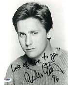 Emilio Estevez Signed