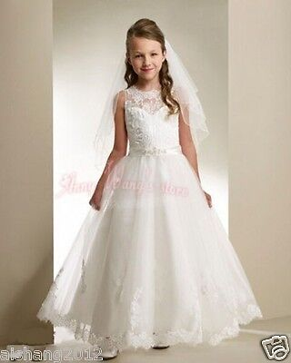 2018 First Communion Dresses Little Girl Pageant Gowns Daminha De Casamento - Little Girl Communion Dresses