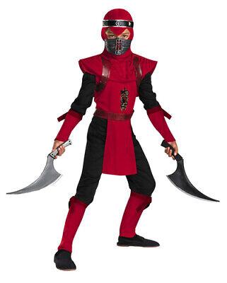 Kid's Red Viper Ninja Deluxe Boy's Costume - Red Viper Ninja Costume